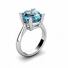 Topaz 5.75ctw Ring 14kt White Gold - L11018
