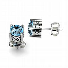 Topaz 1.12ctw Earring 14kt White Gold - L11151