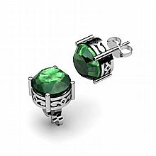 Emerald 3.40ctw Earring 14kt White Gold - L11170