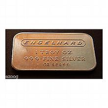 1 oz Engelhard Silver Bar (Wide, Logo / Frosted, 1980, 6-digit) - L24736