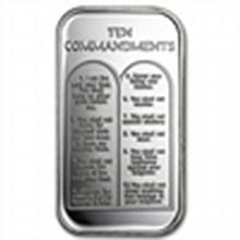 1 oz Ten Commandments Silver Bar - L24739