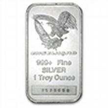 1 oz Engelhard Silver Bar (Tall, Eagle / Logo) - L24734