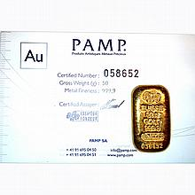 Gold Bars: 50g Gold Bar (1.6075 oz) Manufacturer of our choice - L21640