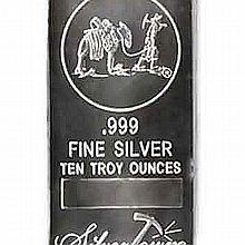 Silver Bars: Random Manufacturer 10 oz Bar .999 fine - L18017