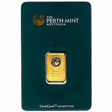 Gold Bars: Perth Mint 5 Gram Gold Bar - L21635