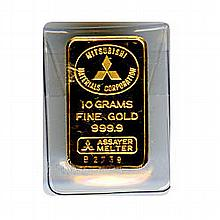 Random Manufacturer 10 Gram Gold Bar - L18131