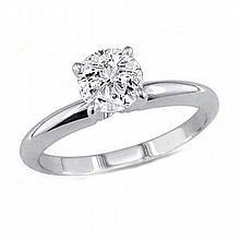 0.90 ct Round cut Diamond Solitaire Ring, G-H,I1-I2 - L11546