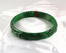 Chinese Antique Jade Bangle - L24067