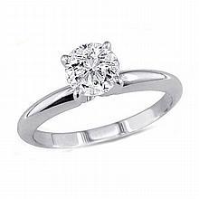 0.50 ct Round cut Diamond Solitaire Ring, G-H,I1-I2 - L11548