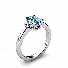 Topaz 0.57ctw Ring 14kt White Gold - L11031