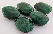 285.40ctw Faceted Loose Emerald Beryl Gemstone Lot of 5 - L20455