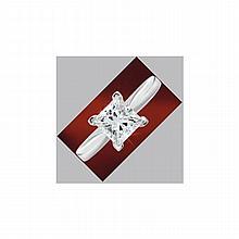0.50 ct Princess cut Diamond Solitaire Ring, G-H, VVS - L11496