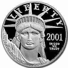 2001-W 1/2 oz Proof Platinum American Eagle PR-69 PCGS DCAM - L30379