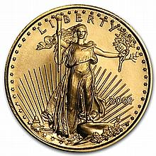 2001 1/10 oz Gold American Eagle - Brilliant Uncirculated - L30158