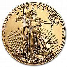 2008 1/2 oz Gold American Eagle - Brilliant Uncirculated - L30886