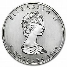 1989 1 oz Silver Canadian Maple Leaf (Brilliant Uncirculated) - L31494