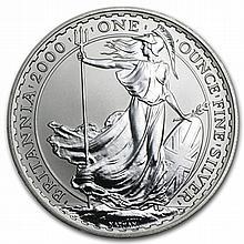 2000 1 oz Silver Britannia (Brilliant Uncirculated) - L31552