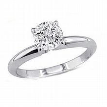 0.90 ct Round cut Diamond Solitaire Ring, G-H, VS - L11434