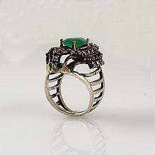 Natural Stone Cocktail Victorian Design Ring - L23164