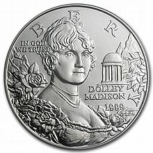 1999-P Dolley Madison $1 Silver Commemorative - MS-70 PCGS - L31077