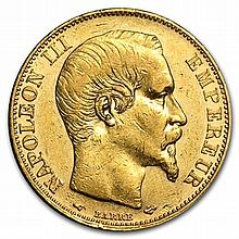 France 20 Francs Gold Napoleon III Random Dates (AU or Better) - L30493