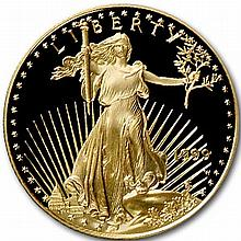 1999-W 1/2 oz Proof Gold American Eagle (w/Box & CoA) - L31512