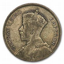 New Zealand 1933-35 Silver 1/2 Crown George V VF - L31136