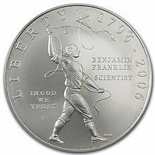 2006-P Ben Franklin Scientist $1 Silver Commemorative MS-69 PCGS - L30696