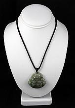 214.08ctw Buddhist Charm Jade Pendant Necklace - L18953