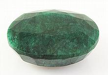 Emerald 318.87ctw Loose Gemstone 49x40x21mm Oval Cut - L20489