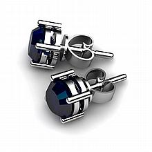 Sapphire 1.30ctw Earring 14kt White Gold - L10887