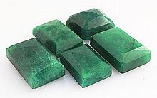 193.83ctw Faceted Loose Emerald Beryl Gemstone Lot of 5 - L20403