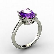 Amethyst 2.40 ctw Ring 14kt White Gold - L15272
