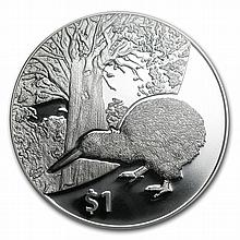 2013 1 oz Silver Proof New Zealand Treasures $1 Kiwi Coin PR69 - L28789