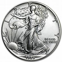 1989 1 oz Silver American Eagle (Brilliant Uncirculated) - L29883