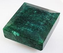 Big Emerald Beryl 1189.50ctw Loose Gemstone Square Cut - L20535
