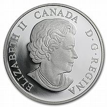 2014 1 oz Silver Canadian $20 The Great Lakes - Lake Superior - L28716
