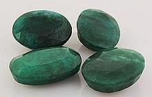 149.03ctw Faceted Loose Emerald Beryl Gemstone Lot of 4 - L20447