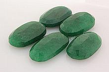 160.17ctw Faceted Loose Emerald Beryl Gemstone Lot of 5 - L20399