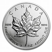 1993 1 oz Silver Canadian Maple Leaf (Brilliant Uncirculated) - L31497