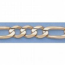 Pure Gold 16 14kt Italian Gold-Yellow 5.1mm, Figaro Chain Gauge:130, 17.1gr - L11305
