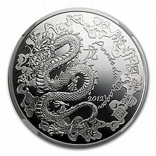 2012 Silver Year of the Dragon - Lunar Series - PF-70 UCAM NGC - L27961