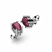 Ruby 1.20ctw Earring 14kt White Gold - L11088