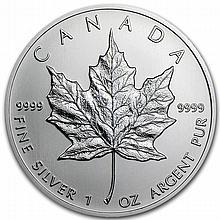 2013 1 oz Silver Canadian Maple Leaf - L22476