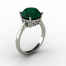 Emerald 6.10 ctw Ring14kt White Gold - L15214