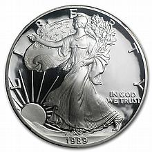 1989-S Proof Silver American Eagle PF-69 NGC (Retro Black Insert) - L27119