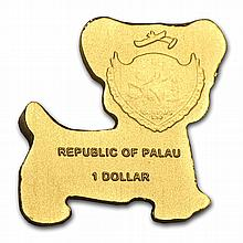 Palau Gold $1 Golden Dog (1/2 gram of Pure Gold) - L28599