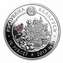 Belarus 2013 Silver Proof Under the Charm of Flowers - Sunflower - L28830