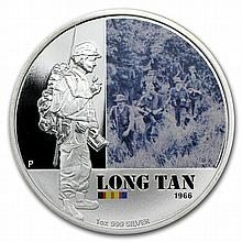 2012 1 oz Proof Silver Battle of Long Tan - Australian History - L26610