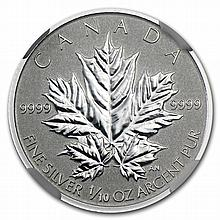 2013 1/10 oz Silver Canadian $2 Maple Leaf 25th Anniv. PF-70 NGC - L27572